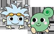 大阪市中央体育館イメージキャラクター『マイマイ』大阪プールイメージキャラクター『おさプー』