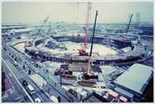 6.床付け・排水層砕石敷き・礎版コンクリート施工(1994年7月~)
