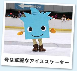 冬は華麗なアイススケーター